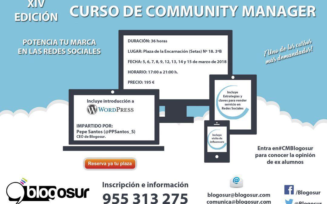 XIV Edición Curso Community Manager Blogosur
