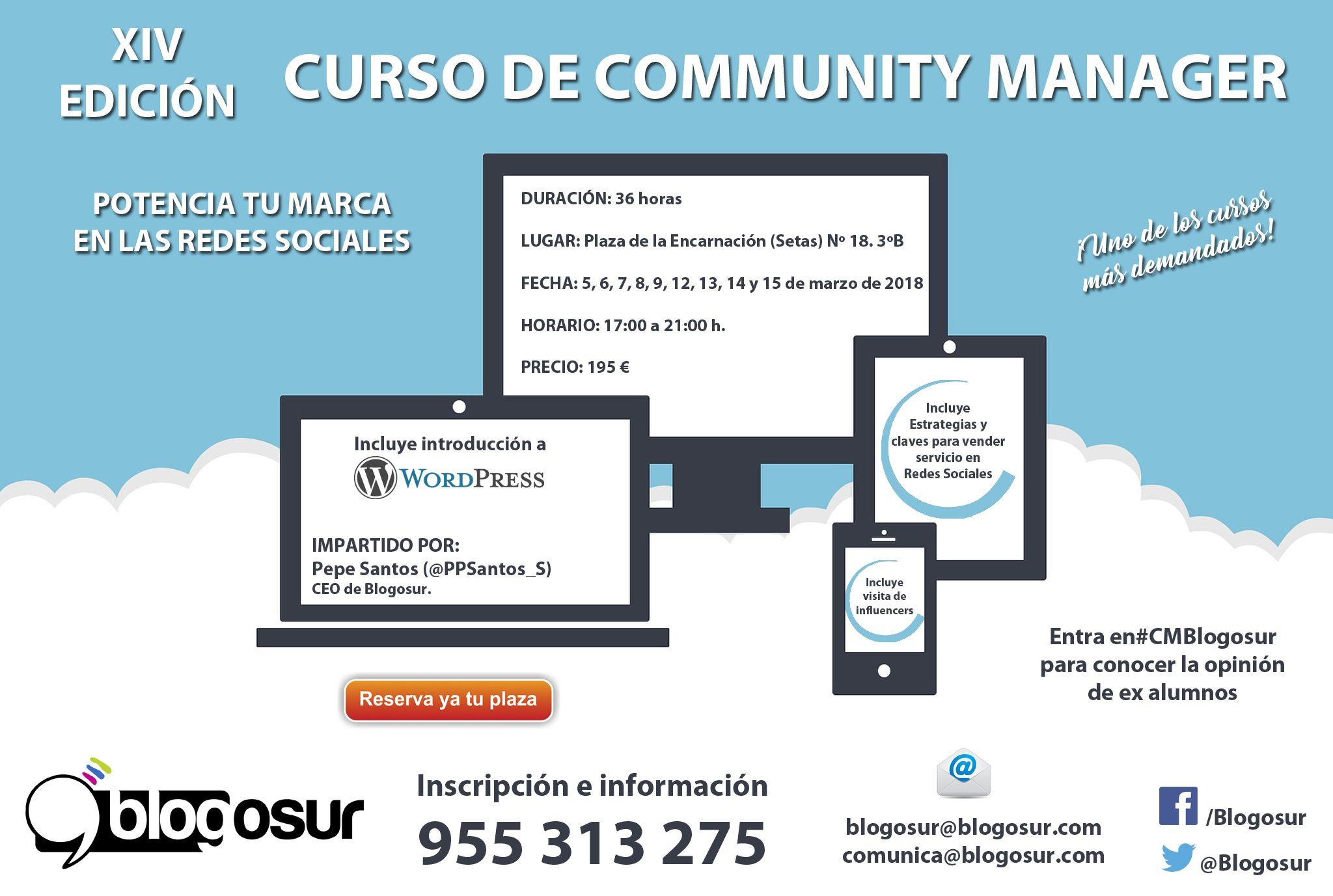 curso community anager marzo 2018 en andalucía