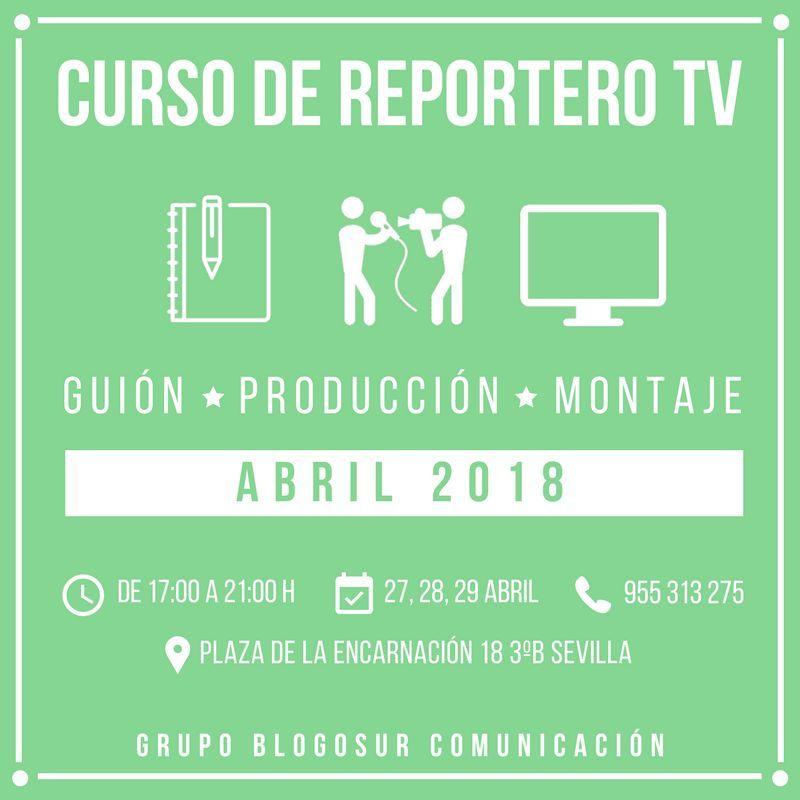curso de reportero tv blogosur abril 2018